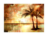 Tropical Sunset - Artwork In Painting Style Prints by  Maugli-l