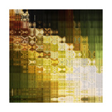 Art Abstract Rainbow Geometric Pattern Background Poster by Irina QQQ