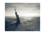 Statue Of Liberty On Apocalyptic Background Prints by  olly2