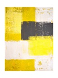 Grey And Yellow Abstract Art Painting Prints by  T30Gallery