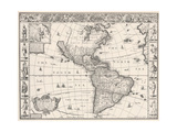 1626 Antique Map Of North And South America Poster by  Sergey-USSR