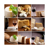 Collection Of Italian Cheese And Wine Print by Marco Mayer