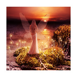 Fantasy Magic World. Pixie And Sunset Posters by  Katalinks