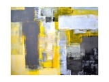 Grey And Yellow Abstract Art Painting Posters by  T30Gallery