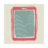 Christmas Trees On Tablet Device Screen Prints by  pashabo