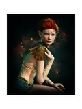 Elven Princess With Turquoise Jewelry Posters by Atelier Sommerland