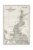 Kennedy Channel Old Map. Created By Erhard, Published On Le Tour Du Monde, Paris, 1860 Prints by  marzolino