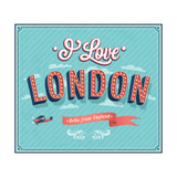 Vintage Greeting Card From London - England Posters by  MiloArt