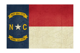 Grunge Illustration Of North Carolina State Flag, United States Of America Prints by  Speedfighter