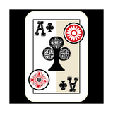 Hand Drawn Deck Of Cards, Doodle Ace Of Clubs Prints by Andriy Zholudyev