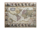 World Old Map. Created By Nicholas Visscher, Published In Amsterdam, 1652 Prints by  marzolino