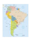 South America-Highly Detailed Map Art par  ekler