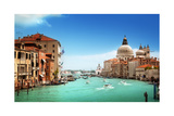 Grand Canal And Basilica Santa Maria Della Salute, Venice, Italy Affiches par Iakov Kalinin