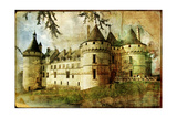 Medieval Castle - Old Book Of The Fairy Tales Póster por  Maugli-l