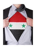 Business Man With Syrian Flag T-Shirt Posters by  IJdema