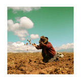 Potato Harvest In The Andes Of Peru Premium Giclee Print by  cwwc