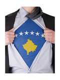 Business Man With Kosovo Flag T-Shirt Posters by  IJdema
