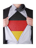 Business Man With German Flag T-Shirt Posters by  IJdema
