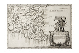 Old Map Of South-East Sicily Prints by  marzolino