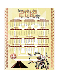 Calendar 2012 In Mayan Style With God Prints by  Sateda