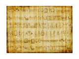 Egyptian Parchment With Hieroglyphics Prints by  Maugli-l
