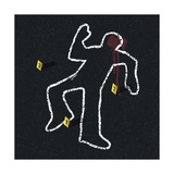 Crime Scene Illustration Print by  pashabo