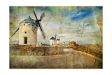 Windmills Of Spain - Picture In Painting Style Prints by  Maugli-l