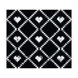Seamless Aztec Tribal Pattern With Hearts - Grunge, Retro Style Prints by  RedKoala