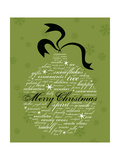 Merry Christmas And Other Holiday Words In The Shape Of An Ornament Posters by  dougbraphael