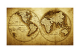 Antique Map Of The World (Circa 1711 Year) Poster by Oleg Golovnev