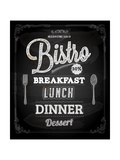 Bistro Chalkboard Poster For Vintage Design Posters by Ozerina Anna
