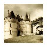 Medieval Chaumont Castle - Sepia Toned Picture Poster by  Maugli-l