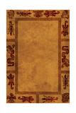 Background With American Indian National Patterns Kunstdruck von  frenta