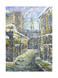 Old Street In Vitebsk In The Winter Prints by  balaikin2009