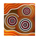 Australia Aboriginal Art Giclee-tryk i høj kvalitet af Irina Solatges