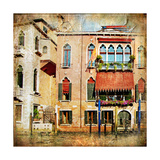 Colors Of Venice - Artwork In Painting Style Series Art by  Maugli-l