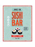 avean - Vintage Sushi Bar Poster - Reprodüksiyon