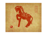 Chinese 2014 For Year Of Horse Design, Words Mean Happy New Year Prints by  kenny001