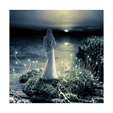 Fantasy Magic World. Pixie And Sunset Art by  Katalinks