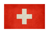 Grunge Sovereign State Flag Of Country Of Switzerland In Official Colors. F Prints by  Speedfighter