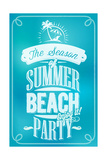 Beautiful Seaside View Poster. With Typography Print by  Melindula
