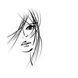 Girl Face Symbols Giclée-Premiumdruck von Irina QQQ