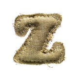 Linen Vintage Cloth Letter Z Isolated On White Posters by  smaglov