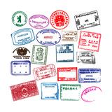 Various Visa Stamps From Passports From Worldwide Travelling Kunstdrucke von VECTOR HERE