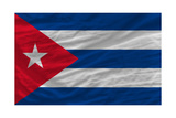 Complete Waved National Flag Of Cuba For Background Posters by  vepar5