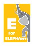 E For The Elephant, An Animal Alphabet For The Children Prints by Elizabeta Lexa
