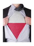 Business Man With Polish Flag T-Shirt Art by  IJdema