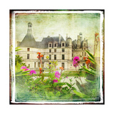 Chambord Castle -Retro Styled Picture Premium Giclee Print by  Maugli-l