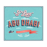 Vintage Greeting Card From Abu Dhabi - United Arab Emirates Prints by  MiloArt