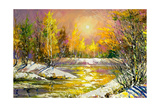 Autumn Landscape On The Bank Of The River Art by  balaikin2009